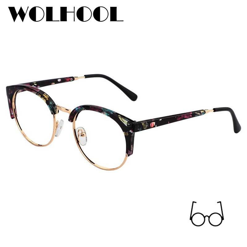1e1d8306cd34 2019 Women Classic Colored Eyeglass Frames Designer Spectacle Frames Alloy  Myopia Glasses Frame Round Prescription Eyewear Frame From Marquesechriss,  ...