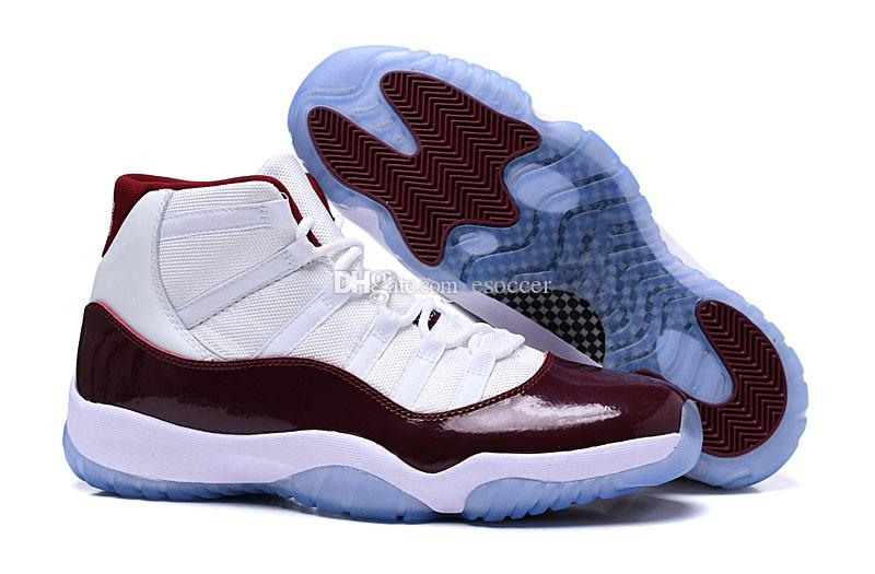 da4c817cb84c28 Jumpman 11 Mens Basketball Shoes Sneakers Sports Trainers 2019 New Wine Red  White Running Shoes Size 40-47 High Top Sneakers 11s Shoes Mens Basketball  Shoes ...