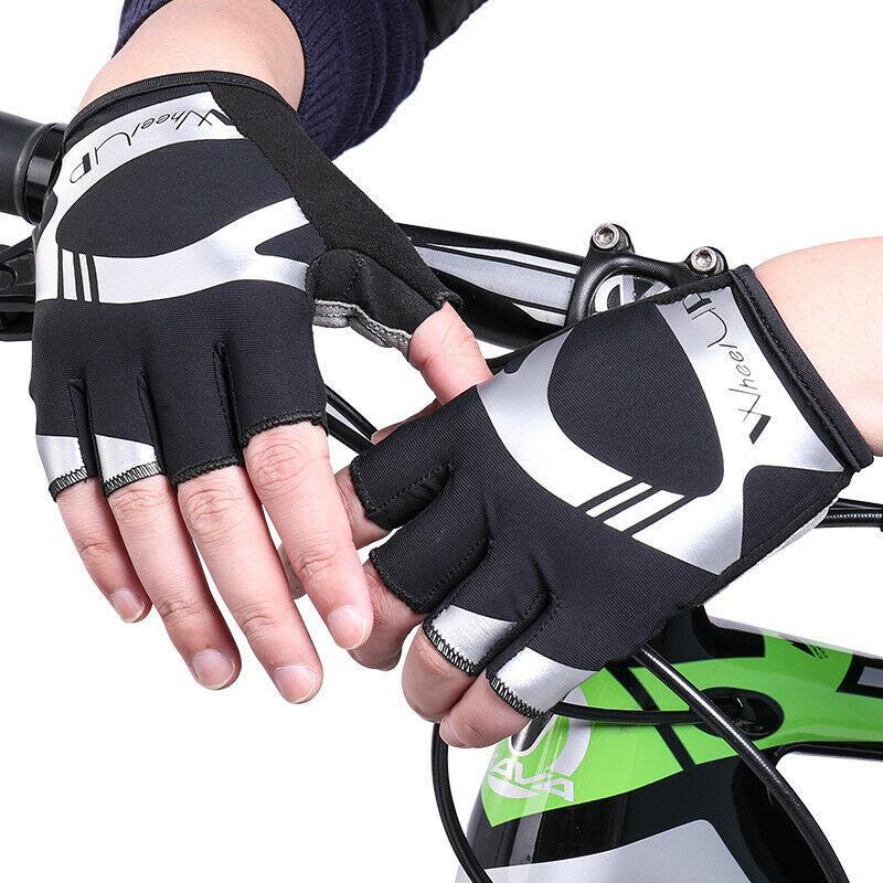US Stock Sport Racing Cycling Motorcycle MTB Bike Bicycle Gel Half Finger Gloves