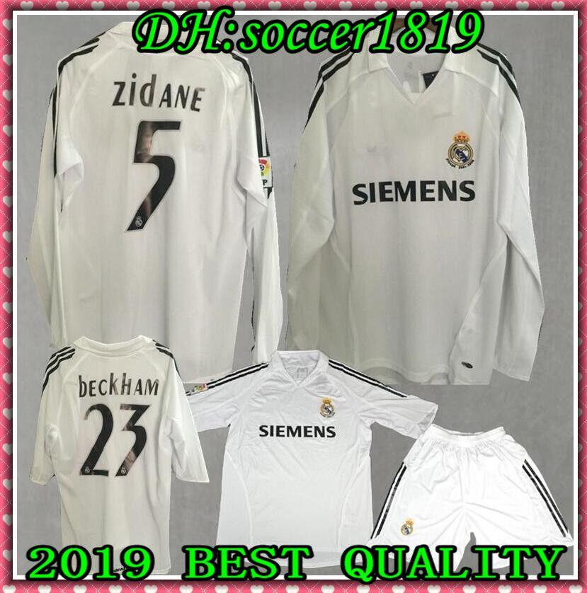 923170b3e05 2019 2005 2006 Real Madrid Retro Shirts Retro Soccer Jerseys Benzema  ASENSIO Zidane RONALDO Beckham 05 06 Real Madrid Football Shirt Long Sleeve  From ...