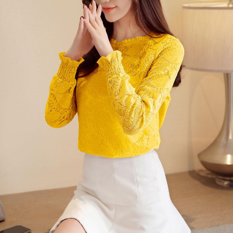 098f98435c 2019 Blusas Mujer De Moda 2019 Hollow Lace Blouse Women Shirts Long Sleeve  Shirt Feminina Womens Tops And Blouses Clothes From Lovegucci8888