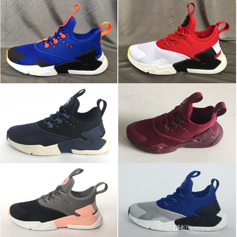 1e4e2c35c3 2019 New Kids Huarache Sneakers Shoes For Boys Grils Children Trainers  Hurache Youth Kids Huaraches Ultra Sports Running Shoes Size 22-35 Kids  Sneakers ...