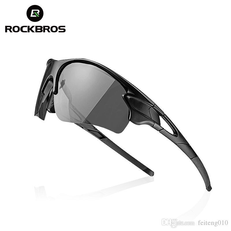 e27097fbf ROCKBROS Gafas De Ciclismo Polarizadas Fotocromáticas MTB De Carretera  Profesional Gafas De Sol Oculos Gafas Ciclismo Safety Sport Sunglasses #  110040 Por ...