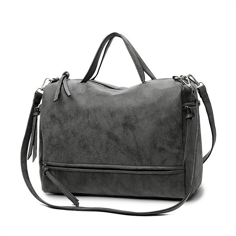 e185f2a2ccf Dropshipping Brand Fashion Female Shoulder Bag Nubuck Leather Women ...