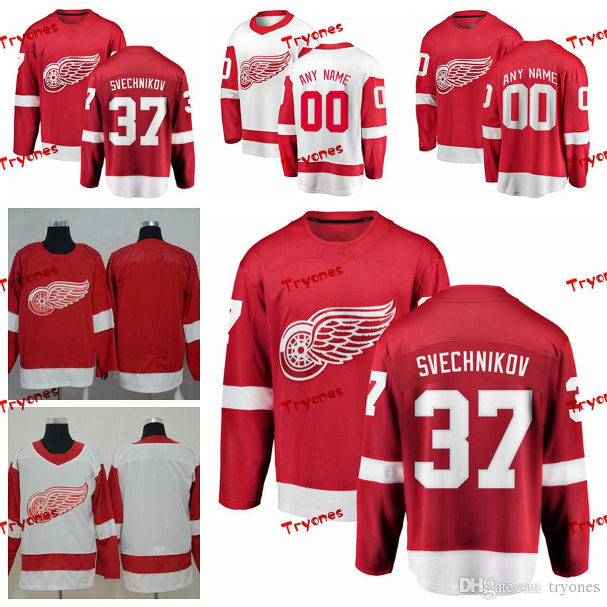 d888714cc Compre 2019 Detroit Red Wings Evgeny Svechnikov Camisetas Cosidas  Personalizar En Casa Camisas Rojas   37 Evgeny Svechnikov Camisetas De  Hockey S XXXL A ...