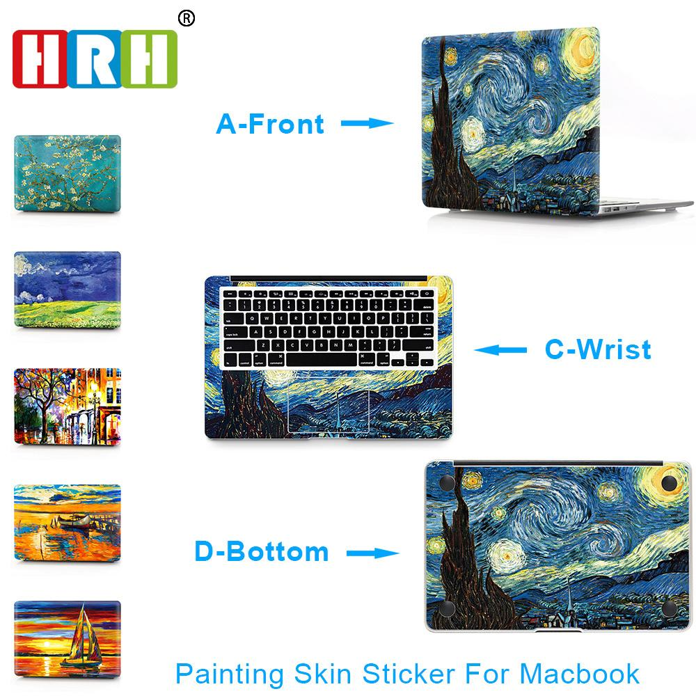 Hrh 3 In 1 Paiting For Sticker Macbook Air 11 12 13 Pro 13 15 Retina Decal Laptop Wall Car Vinyl Logo Skin Matte Boay Palm Guard T6190615