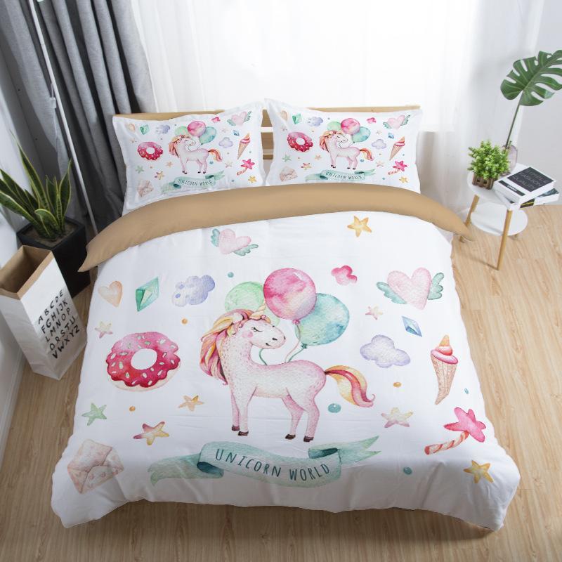 Grosshandel Bettwasche Bettwasche Regenbogen Einhorn Kinder