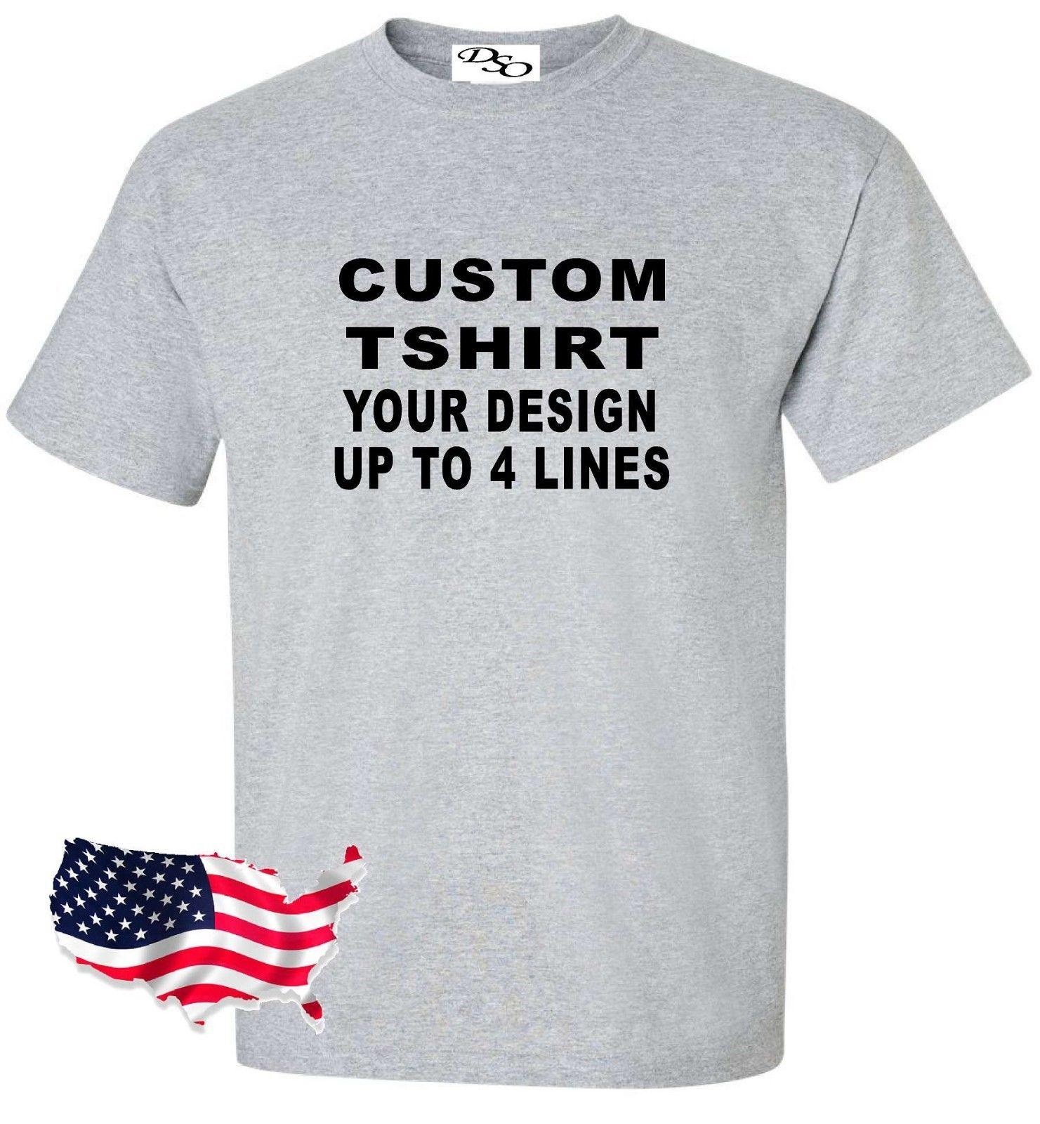 18af6287b7 Custom T Shirt Your Design Your Text Here 1300  16 Shirt Colors SM 6X  Classic Casual 2018 New Fashion Hipster O Neck Cool Tops Funny Printed T  Shirts Cool ...