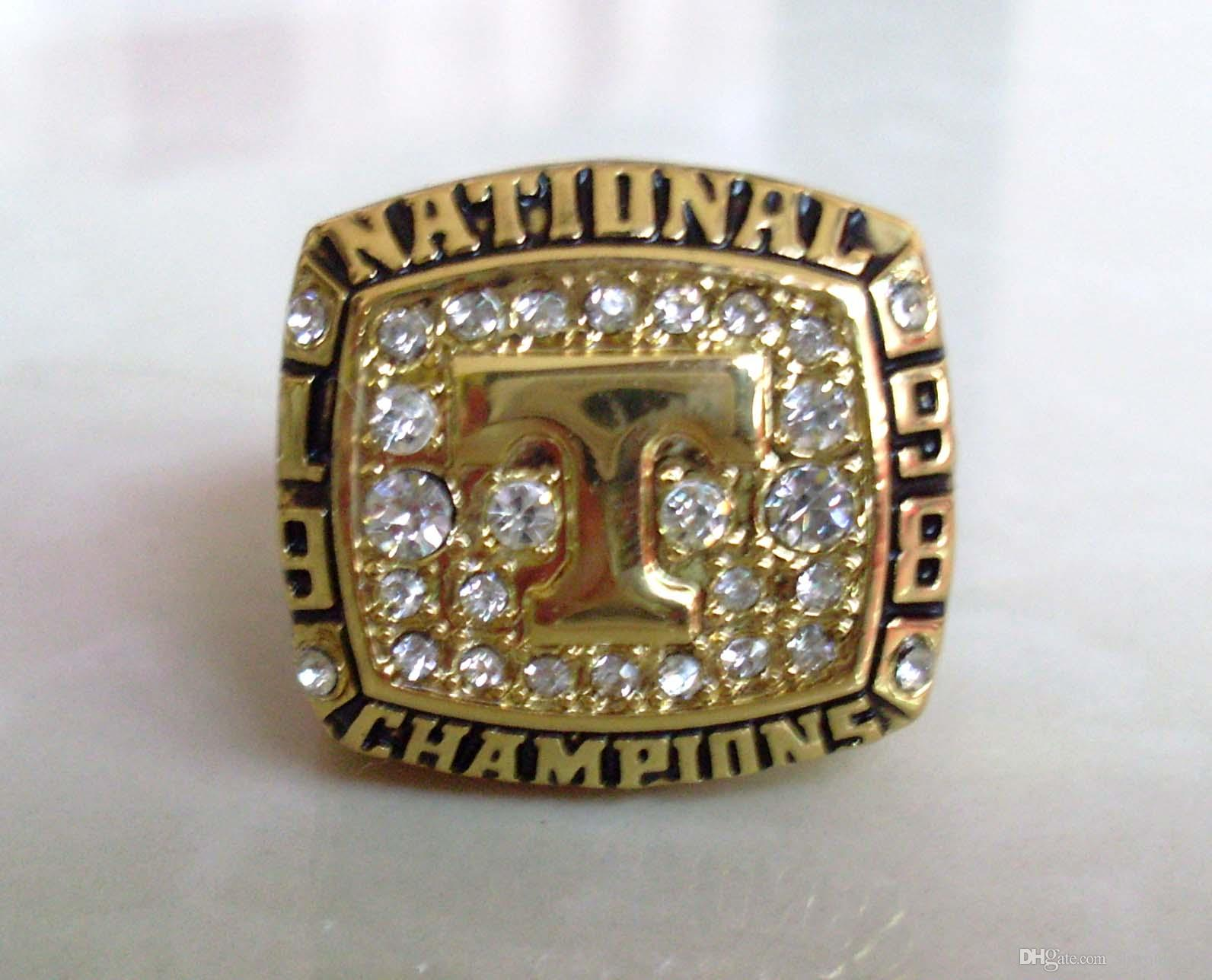 Defective 1998 Tenneesee Cates Collge Football National Championship Ring Size 11 Gold