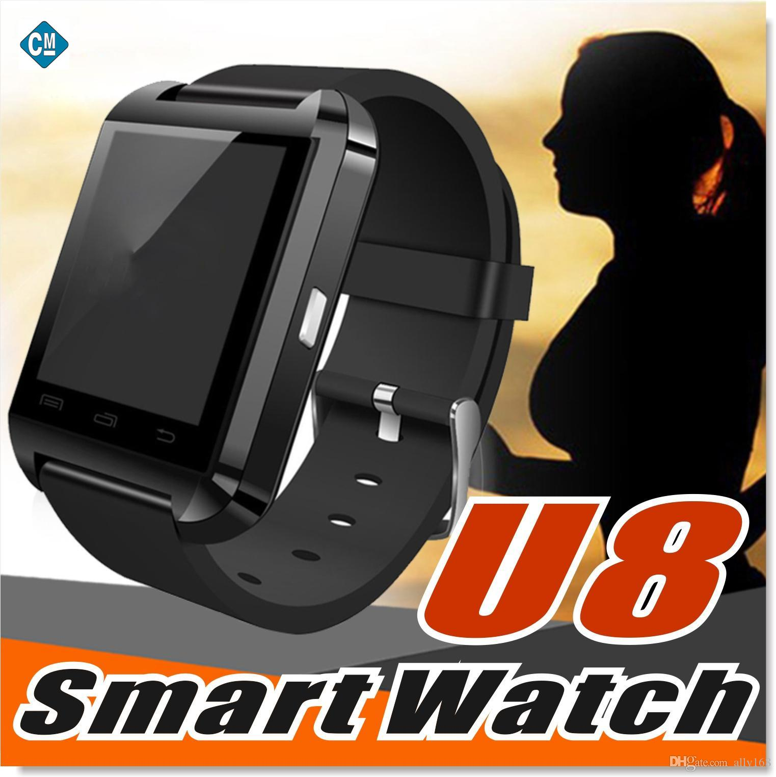 U8 Smart Watch 30X Wrist Watches with Altimeter and motor for iPhone 7 6 6S Plus Samsung S8 Pluls S7 edge Android Apple Cell Phone
