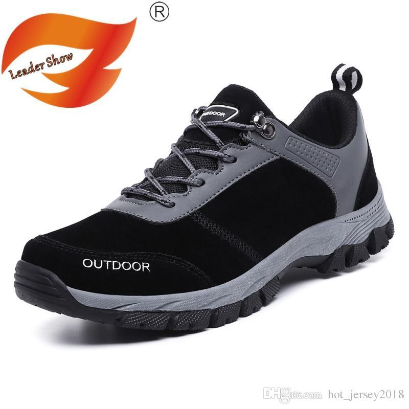 58444644c ... Ao Ar Livre Homens Caminhadas Sapatos De Caça De Trekking Outventure  Couro Trail Homem Sapatilhas Sapatos Masculinos Tamanho Grande 47 48 49  Zapatos ...