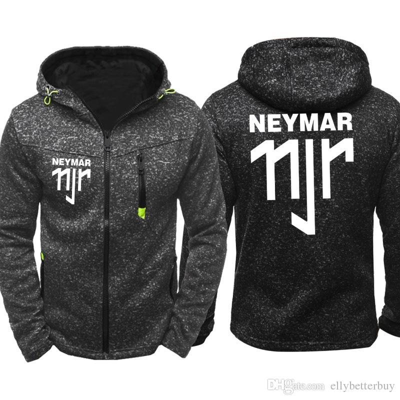 ac1a4d73fbda 2019 NEYMAR 11JR Men Sports Casual Wear Hoodies Zipper Fashion Tide  Jacquard Fall Sweatshirts Spring Autumn Jacket Coat Tracksuit Tops From  Ellybetterbuy