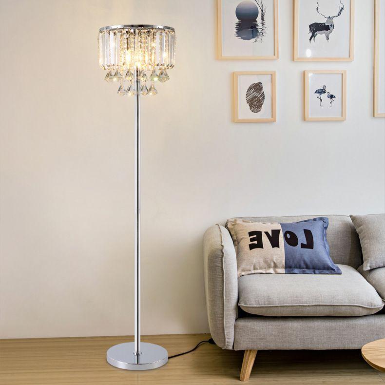 2019 Luxury Modern Royal Floor Lamp Simple Modern Crystals Study Led ...