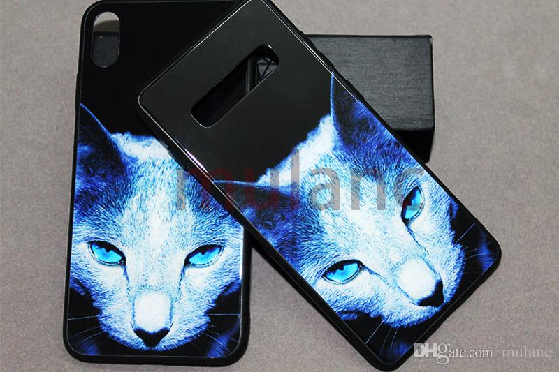 Samsung S10 s10+ note9 Tempered Glass Phone Case Cats for iphone xsmax Xr X XS 6/7/8 plus Samsung Galaxy note 9 s9 s10 plus s10lite