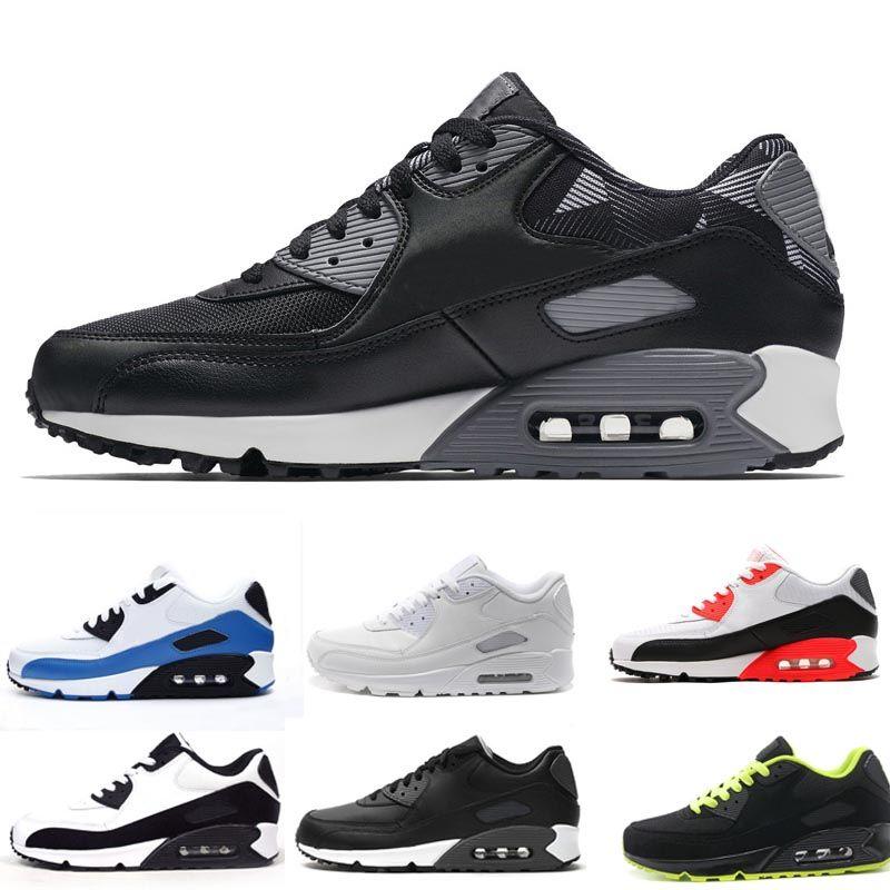 88e85dd5d7 Compre Homens 90 Tênis De Corrida Classical Barato Sneakers Almofada 90  Calçados Esportivos Tamanho 36 46 De Dongyingtradestore