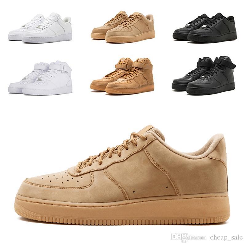 91d994d1fae Compre Nike Air Force 1 Venta Al Por Mayor Zapatillas De Deporte Clásicas  Para Hombre Mujer Todo Alto Bajo Blanco Negro Trigo Zapatos Para Hombre  Zapatillas ...