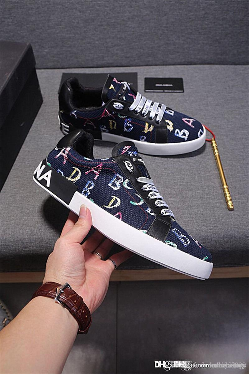 144a079a299 2018 New Arrive DOLCE   GABBANA D.G Letter Of ABCD In Blue Sneakers Casual  Shoes With Box High Heels Heels From Dakeai999