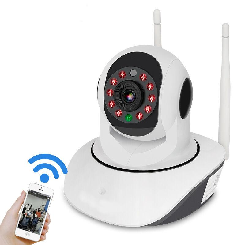 V380 1080P IP NETWORK WIFI HD SECURITY CCTV CAMERA 355 Degree PTZ IR-CUT IP ROBOT3 SD H.264 Wireless Camera Supports 64GB