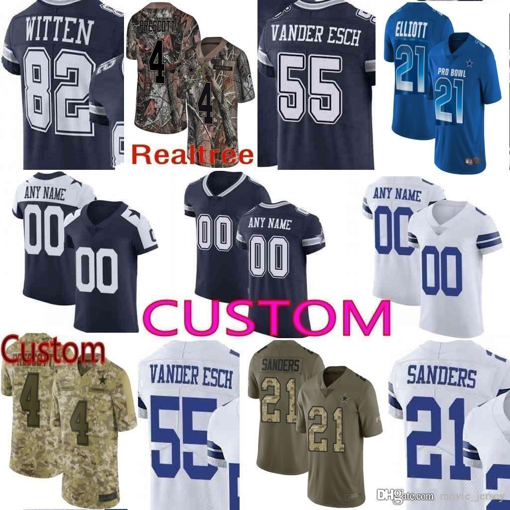 buy online 26e6e 51a29 2019 Pro Bowl custom Men Youth women Dallas Ezekiel Elliott Dak Prescott  Lee Witten Emmitt Smith Camo Amari Cooper cowboys Elite Jersey