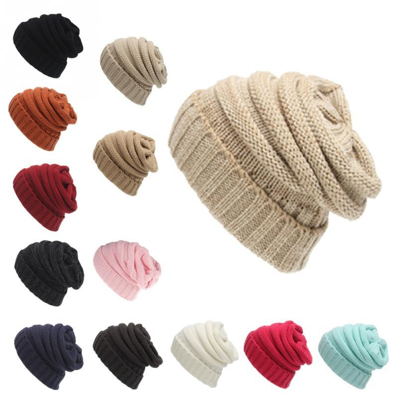 382fc1a3318 Unisex Knitted Hat Outdoor Warm Ski Cap Beanie Hat Soft Wool Stretch Chunky  Cap Skullies   Beanies Cheap Skullies   Beanies Unisex Knitted Hat Outdoor  Warm ...