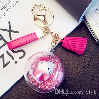 New Fashion Women Casual Tassels Grils Keychain Bag Pendant Alloy Car Key  Chain Ring Holder Trendy Jewlry Cartoon Lovely Keychains Key Covers Photo  Keychain ... 363ecdd527