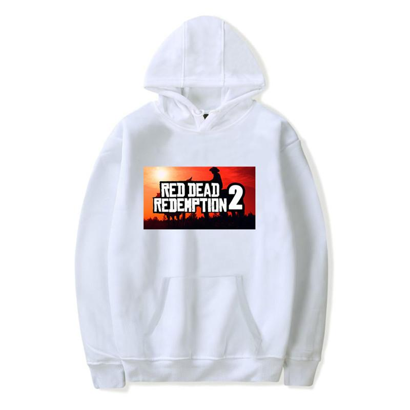 4c306bf76b6f4 XXS-4XL Red Dead Redemption 2 Hoodie Big Letter Printed Long Sleeve ...
