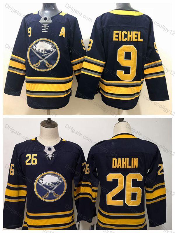 quality design d7b2c ba30f Youth Women Buffalo Sabres 26 Rasmus Dahlin Kids Boys 9 Jack Eichel Jersey  Stitched Blue Ladies Ice Hockey Jerseys