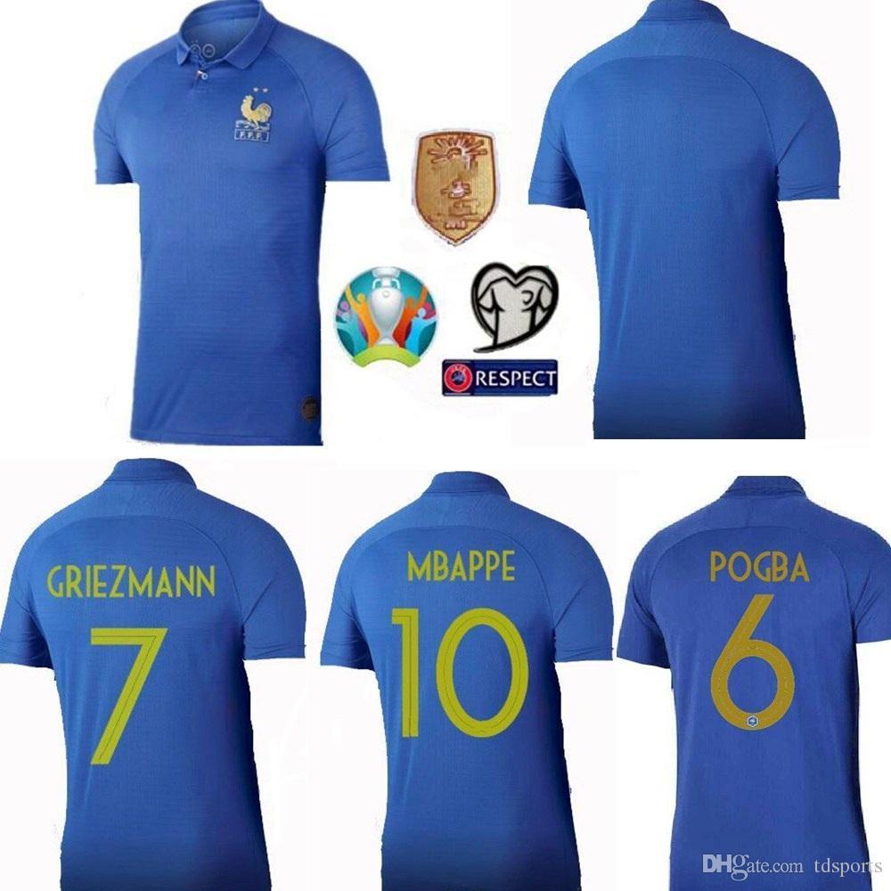 ddf8b7ef1 2019 New France 2020 2019 Special Edition Centenary Soccer JerseyS HENRY  Long Sleeve Mbappe GIROUD Maillot De Foot ZIDANE Football Shirt 19 20 From  Tdsports ...