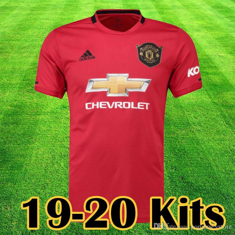fc7278b68 2019 Manchester 2019 2020 LUKAKU MARTIAL POGBA Pink United Soccer Jersey  RASHFORD Kids Jerseys Man Kit Football Shirt 19 20 Utd Tops Equipment From  ...