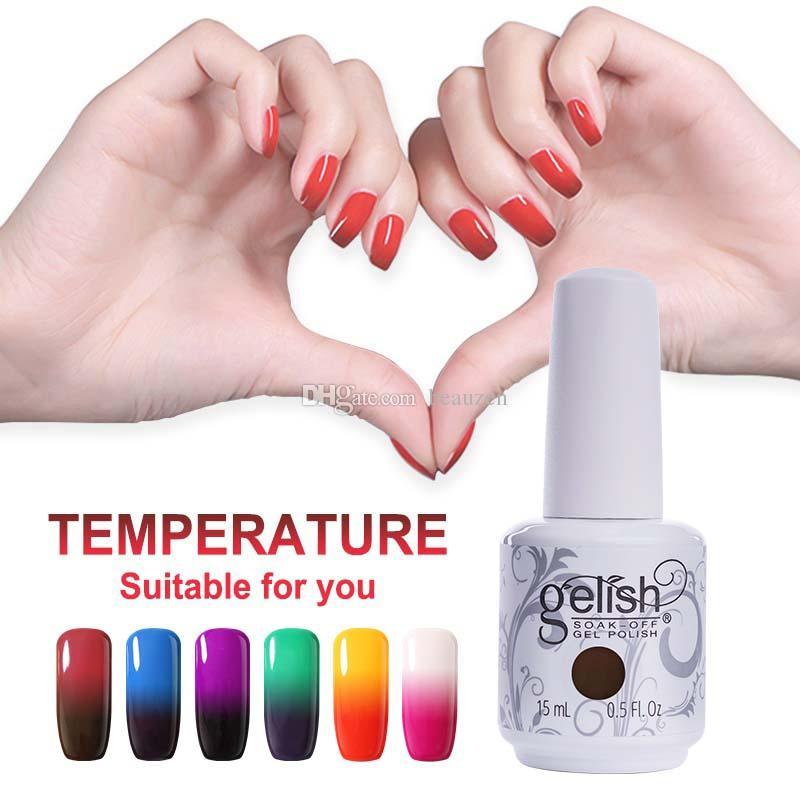 Gelish Temperature Gel Nail Art Soak Off UV LED Gel Nail Polish ...