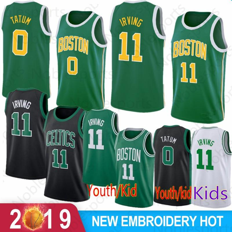 dac83caeeeb 2019 Boston Jayson 0 Tatum 11 Kyrie Mens Irving Jersey Celtic Jaylen 7  Brown Terry 12 Rozier Larry Gordon 20 Hayward 33 Bird Al 42 Horford From  Noblesports