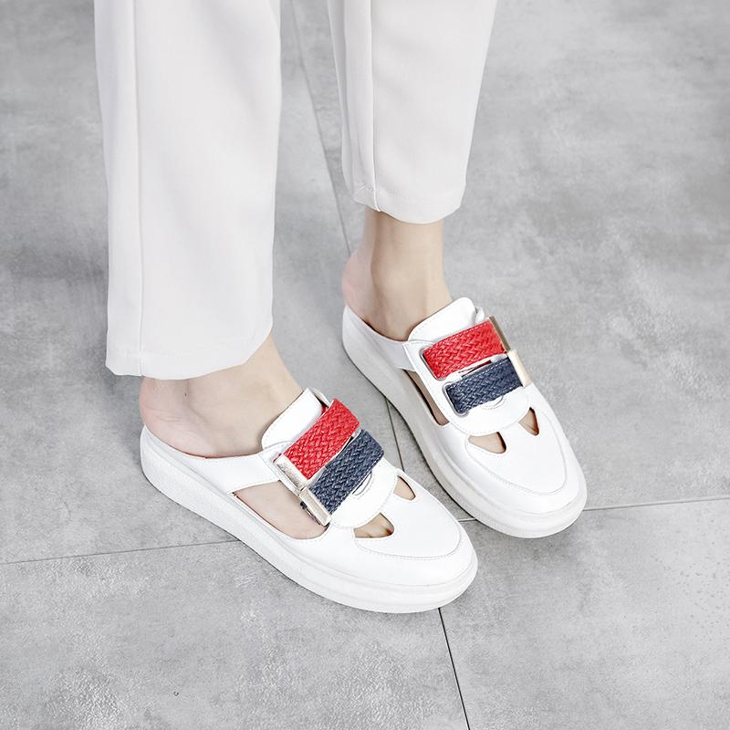 e8938d7d5e9 2019 Luxury Brand New Slippers Cut Out Summer Beach Sandals Fashion Women  Slides Outdoor Slippers Indoor Slip Ons Flip Flops 37 Ballet Slippers Boots  On ...