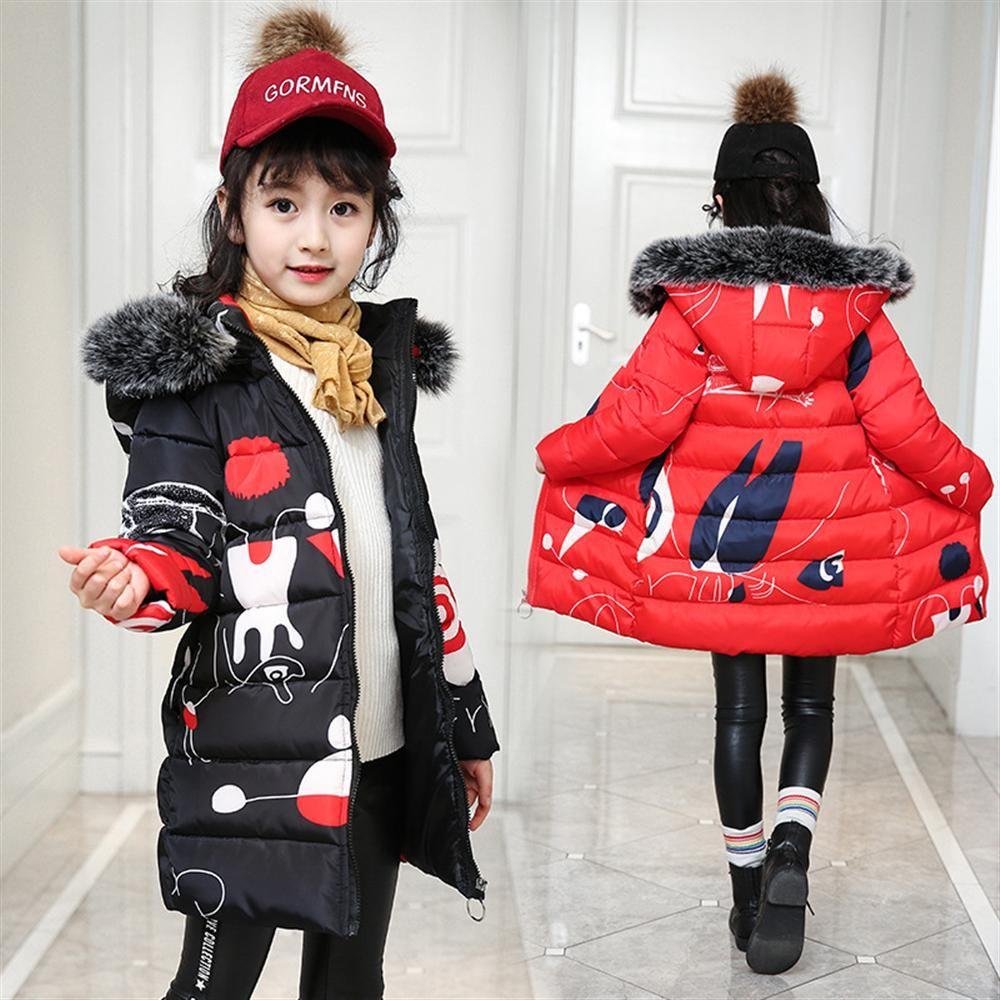 6e1c5c27d9b0 Girls Winter Coats 2018 New Thick Warm Kids Jackets For Girls Hooded ...