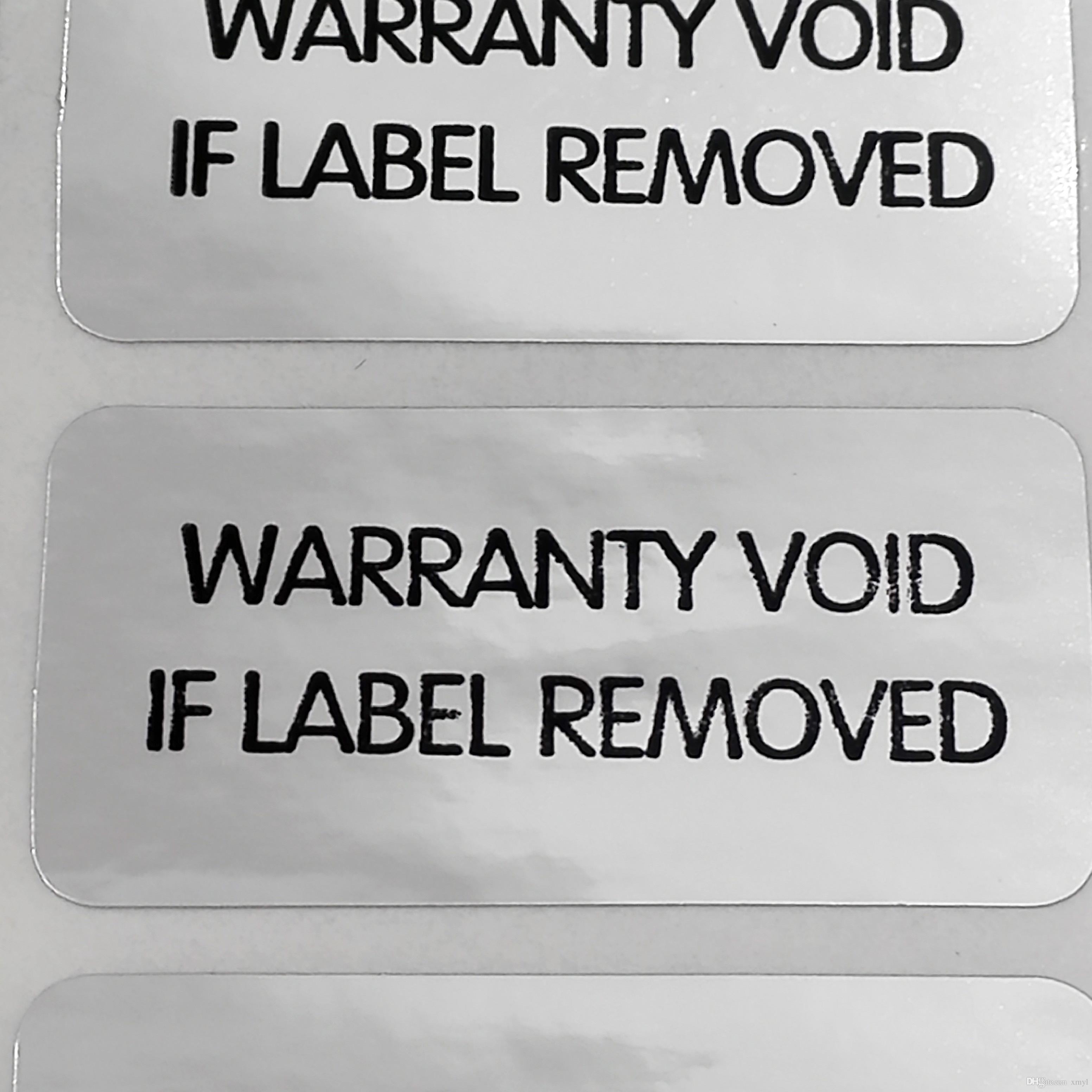 2019 3x1 5cm warranty void if label removed tamper evident packaing label sticker for security item no v32 from xmyl 150 76 dhgate com