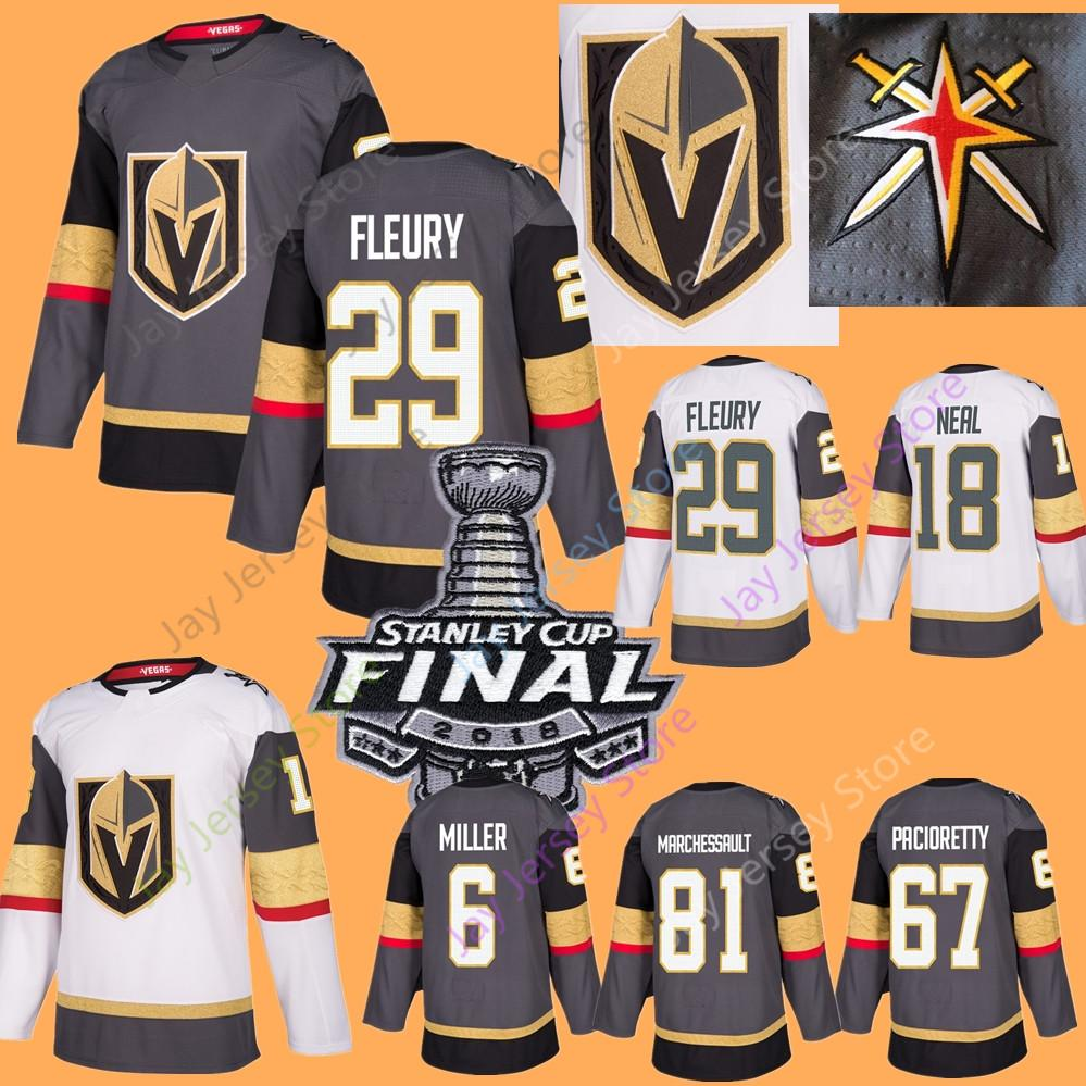 new concept 26090 b9a3d Vegas Golden Knights Jersey 2018 Stanley Colin Miller Neal Fleury Haula  Perron Pacioretty Karlsson Marchessault Schmidt Men Women Youth Kid