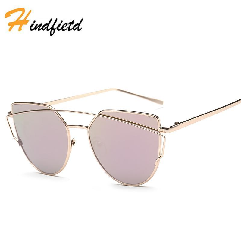 4c898fbbfa New Cat Eye Sunglasses Women S Brand Designer Mirror Flat Rose Gold Sun  Glasses Vintage Cateye Fashion Lady Oculos UV400 Womens Sunglasses  Sunglasses Sale ...