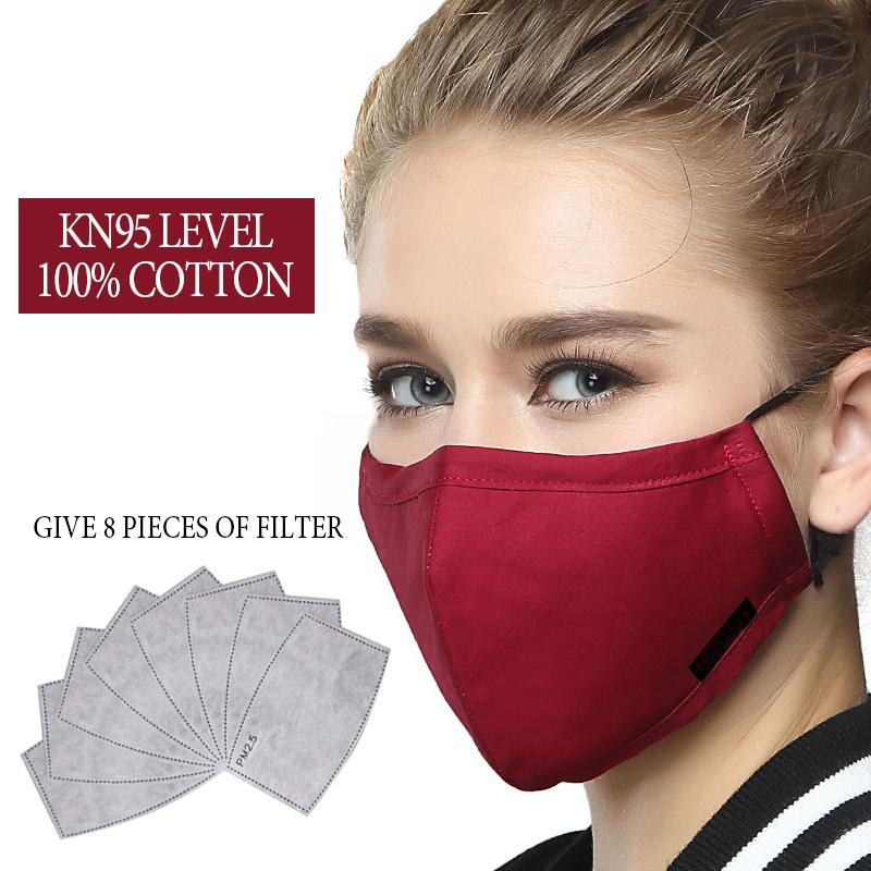 Apparel Accessories Analytical Cotton Anti Haze Mouth Mask Anti Dust Mask Activated Carbon Filter Windproof Mouth-muffle Bacteria Proof Flu Face Masks Fashion Women's Accessories