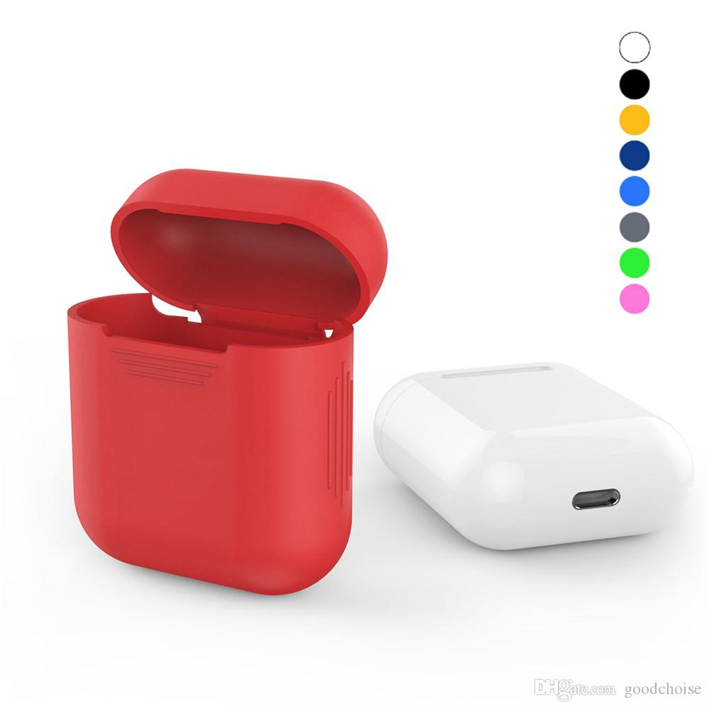 Soft Silicone Case For Apple Airpods Shockproof Cover For Apple AirPods Earphone Cases Ultra Thin earphone Protector Case