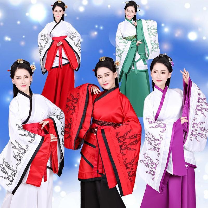 Compre Trajes Chineses Antigos Roupas Femininas Hanfu Dança Trajes  Tradicionais Princesa Nobre Dança Clássica Tang Terno Vestido DL3187 De  Maluokui bf15e710a16