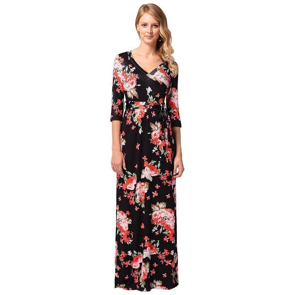 ec7004c7a22 Womens Floral Summer Maxi Dress – DACC