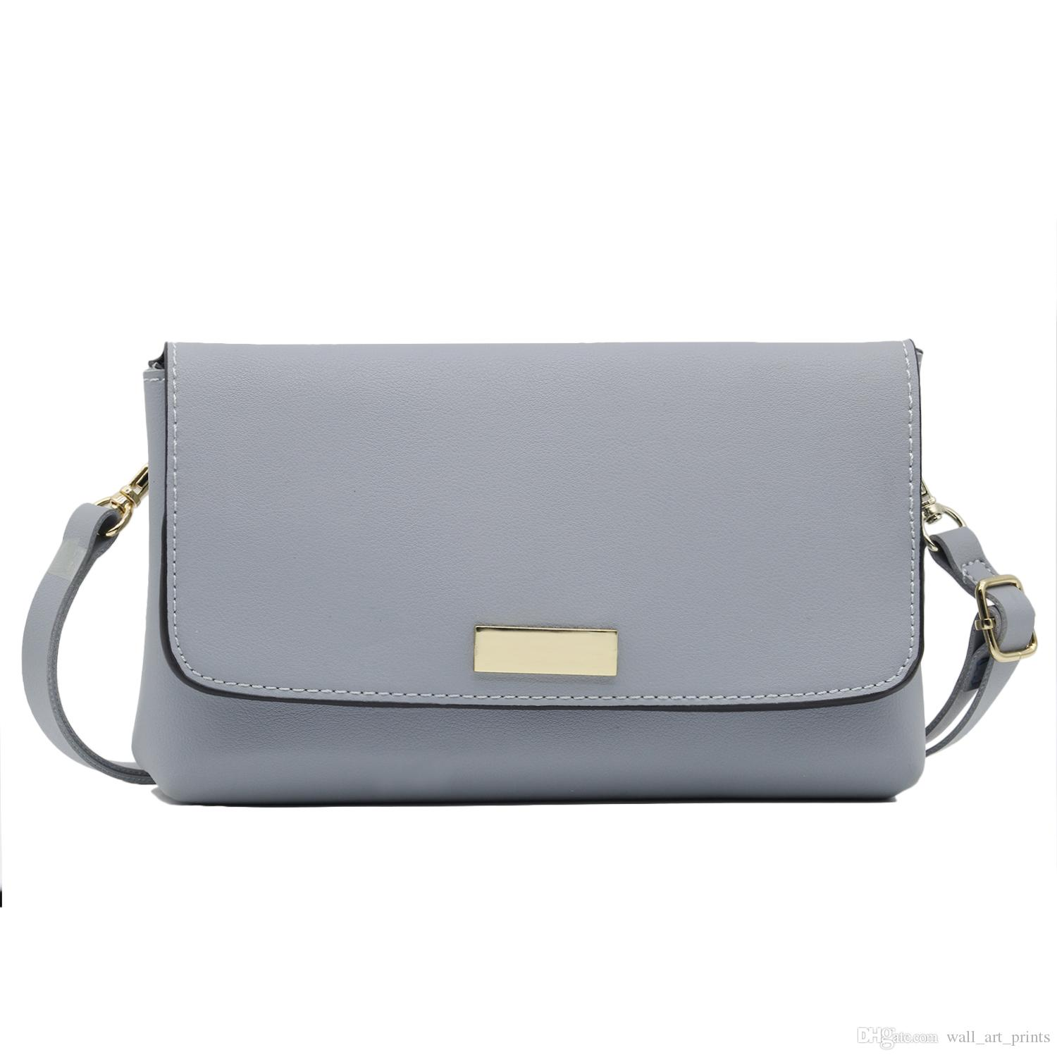 6155b9733 2019 Simple Style Synthetic Leather Crossbody Purse Bag Wristlet Clutch PU Small  Handbag For Women From Wall_art_prints, $29.15 | DHgate.Com