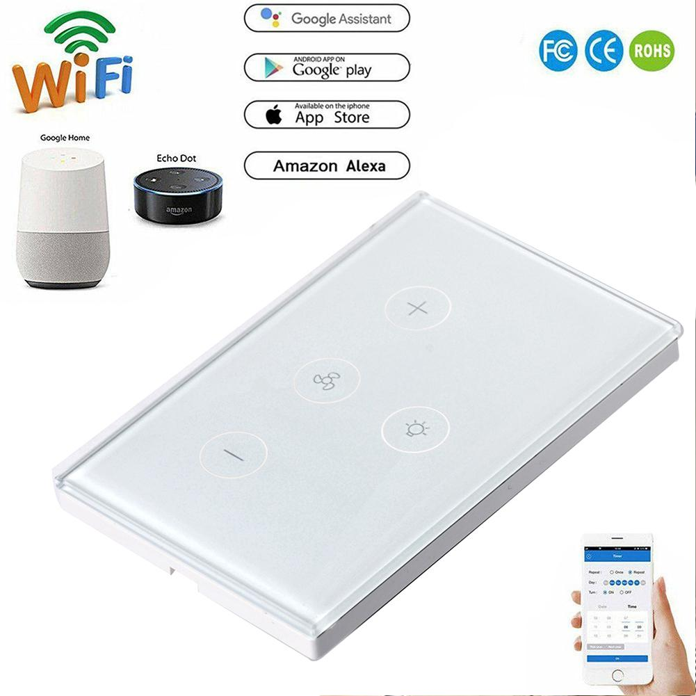 Wireless Smart Home F01 Smart WiFi Ceiling Fan Switch AC 100 - 240V control  on Android / IOS system alexa Google Home Automation