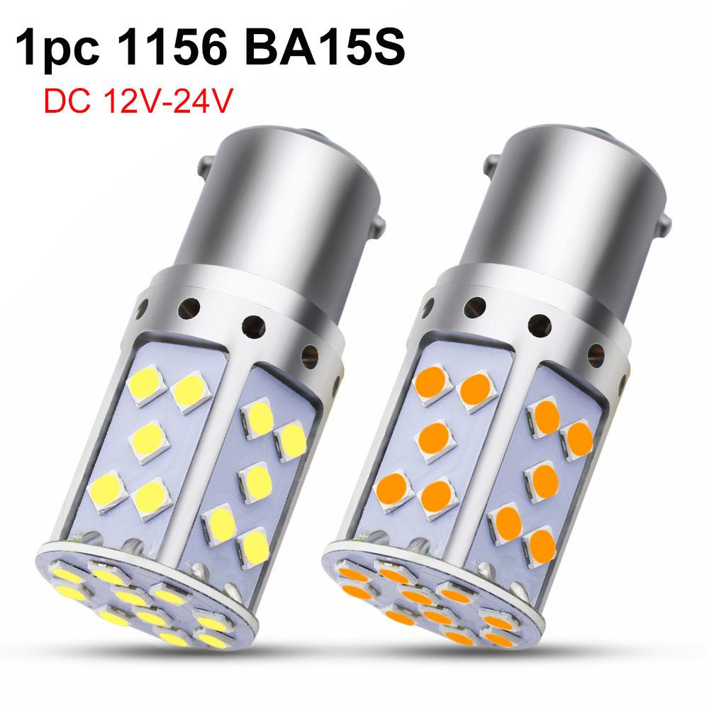 253623a08137f 1pc 1156 BA15S P21W LED Ampoule 3030 35 SMD LED S25 Voiture Auto  Clignotants Reverse Backup Light Blanc Ambre Jaune Lampe Entrée 9-30 V