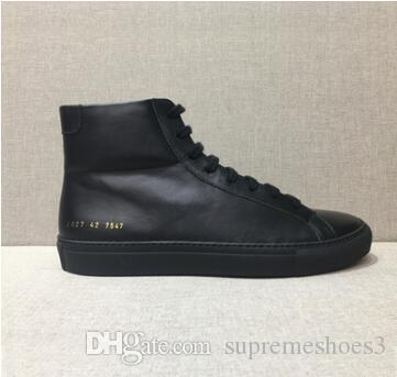 Designer ankle boots Common Projects Genuine Leather Chelse boot kanye west shoes women men flat winter boots casual Fashion designer 2i