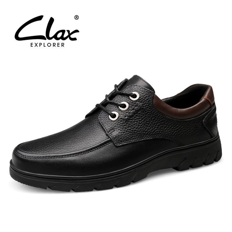 76e5df77 Compre CLAX Zapatos De Vestir Para Hombre De Negocios De Cuero Genuino  Zapato Masculino Primavera Otoño Derby Calzado Calzado Formal Suave Cómodo  Grande ...