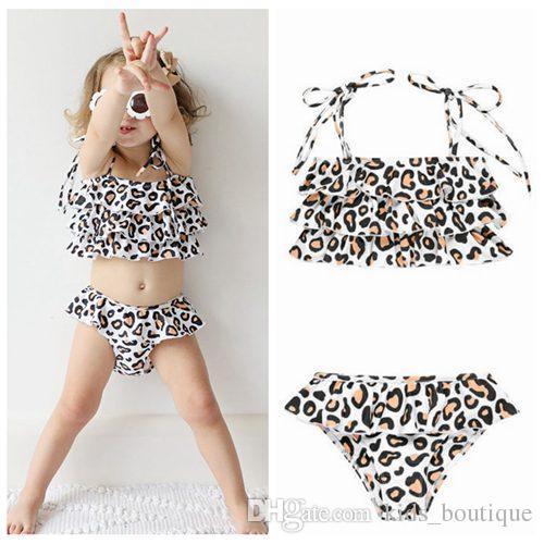 e24e32c0f 2019 2019 Summer Baby Girl One Piece Swimsuits Leopard Kids Swimwear ...