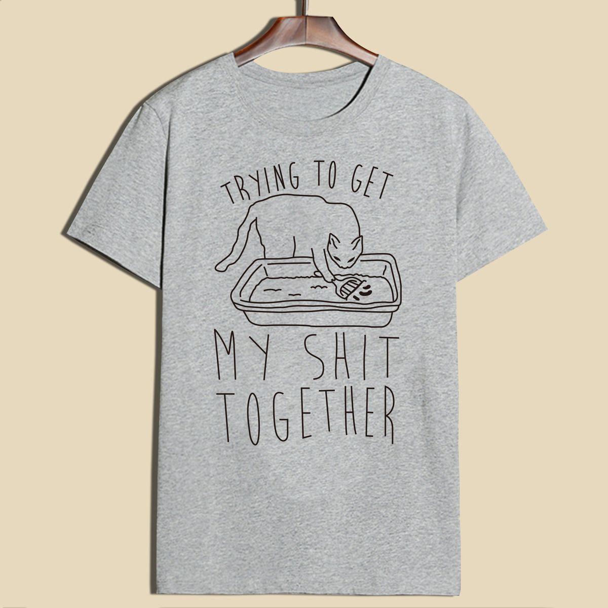 3cba2b318f Hillbilly Funny Cat Tshirt Women Clothing Printed Loose Oversize Summer Top  Harajuku Short Casual T Shirt Women Brand New Tumblr Y18122401 Shopping T  Shirts ...