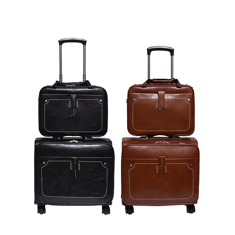 00da7c544501 LeTrend Business PU Leather Rolling Luggage Sets Spinner Women Cabin  Suitcase Wheels High Quality Trolley Travel Bags On Wheel Mens Travel Bags  Toddler ...