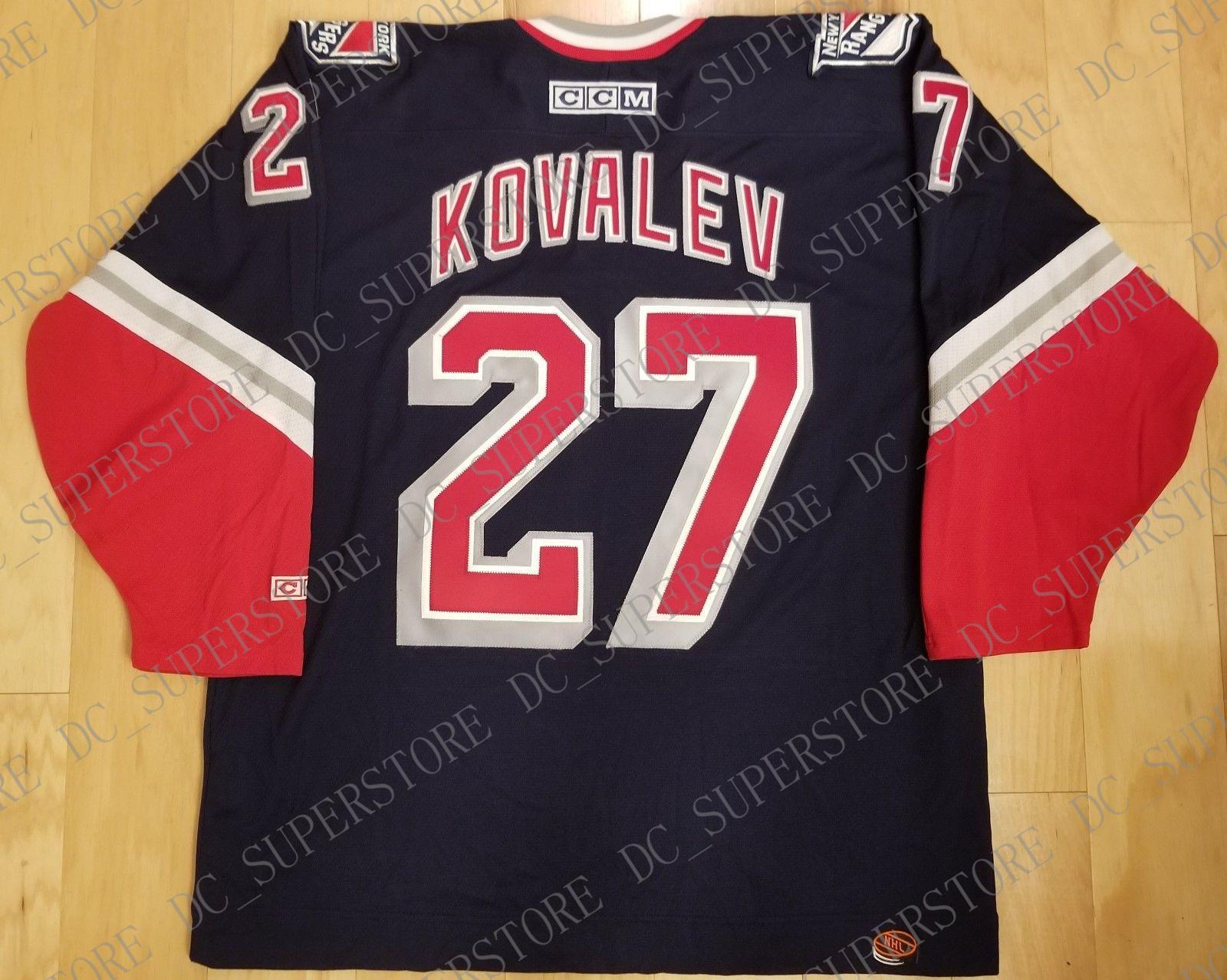 00de833202d 2019 Cheap Custom Alex Kovalev Vintage New York Rangers CCM Third Jersey  Lady Liberty Stitched Retro Hockey Jersey XS 5XL From Dc_superstore, ...