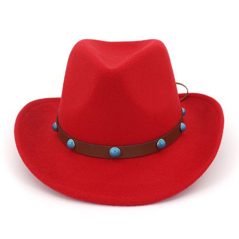 28ff858eba0 Fashion Men Women Westerten Cowboy Hat Wool Felt Trilby Jazz Fedora Hat  Roll Brim Panama Party Formal Hats Sombrero Ladies Hats Floppy Hats From  Gslyy0712